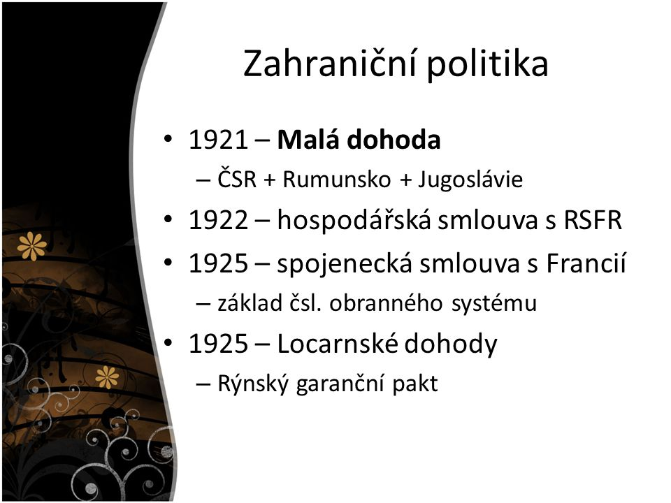 Zahraniční politika 1921 – Malá dohoda