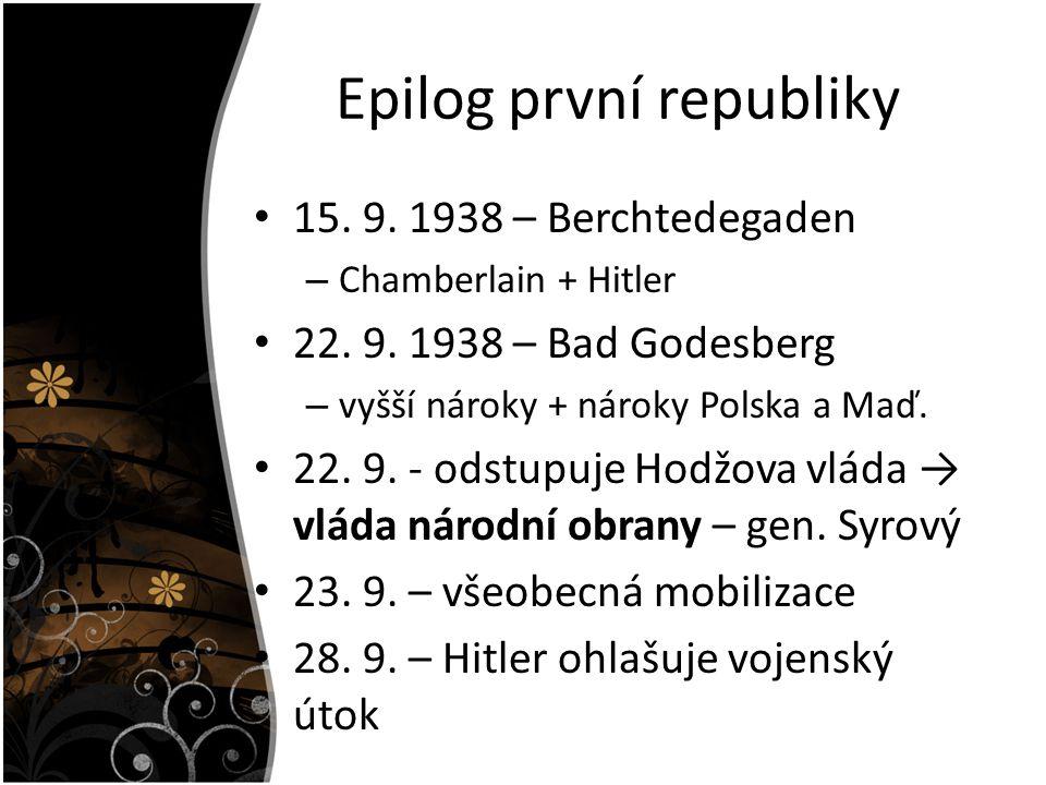 Epilog první republiky