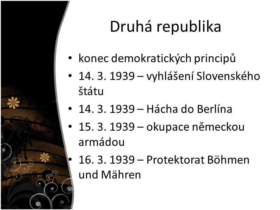 Druhá republika konec demokratických principů