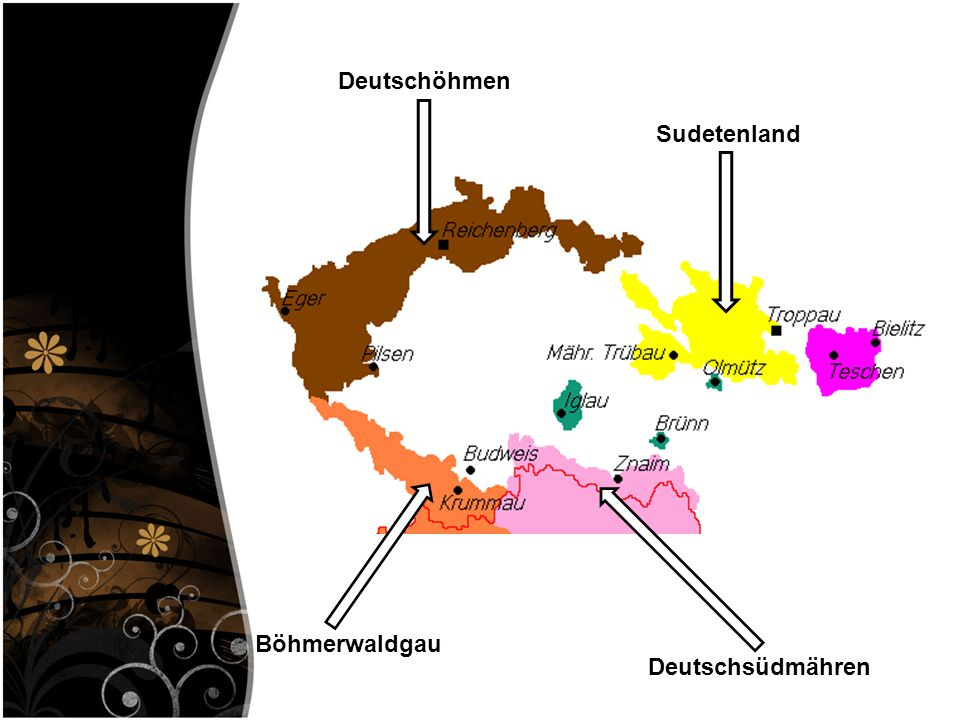 Deutschöhmen Sudetenland Böhmerwaldgau Deutschsüdmähren