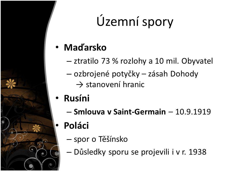 Územní spory Maďarsko Rusíni Poláci