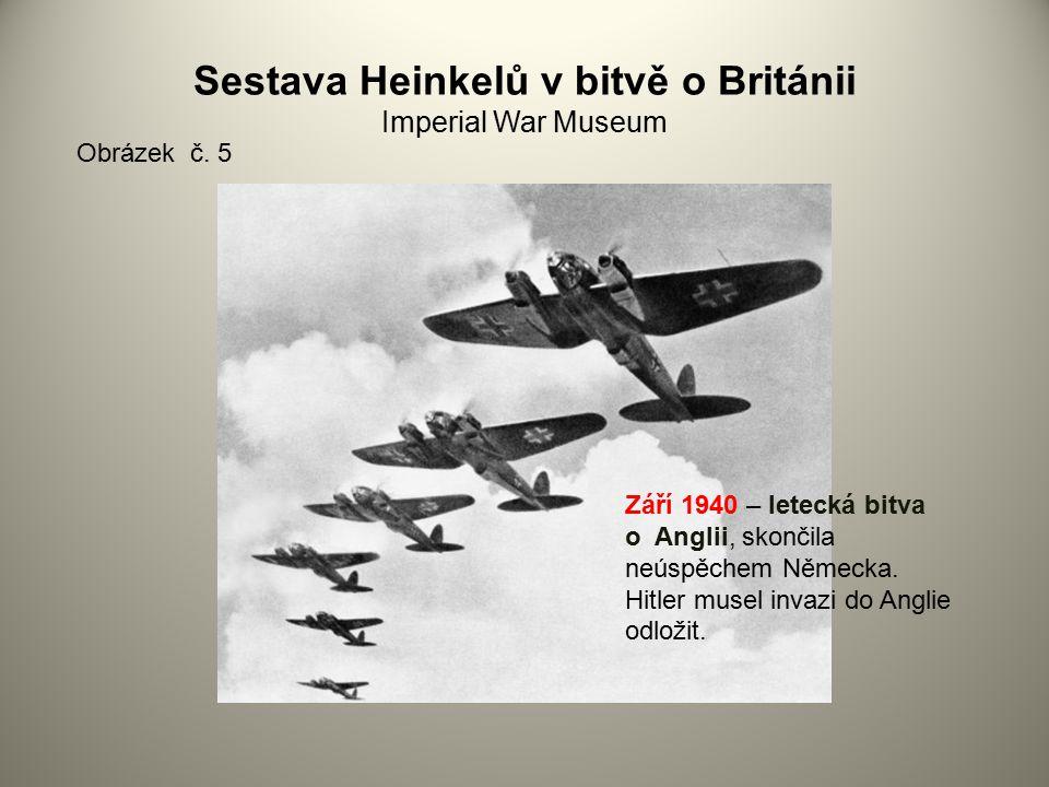 Sestava Heinkelů v bitvě o Británii Imperial War Museum