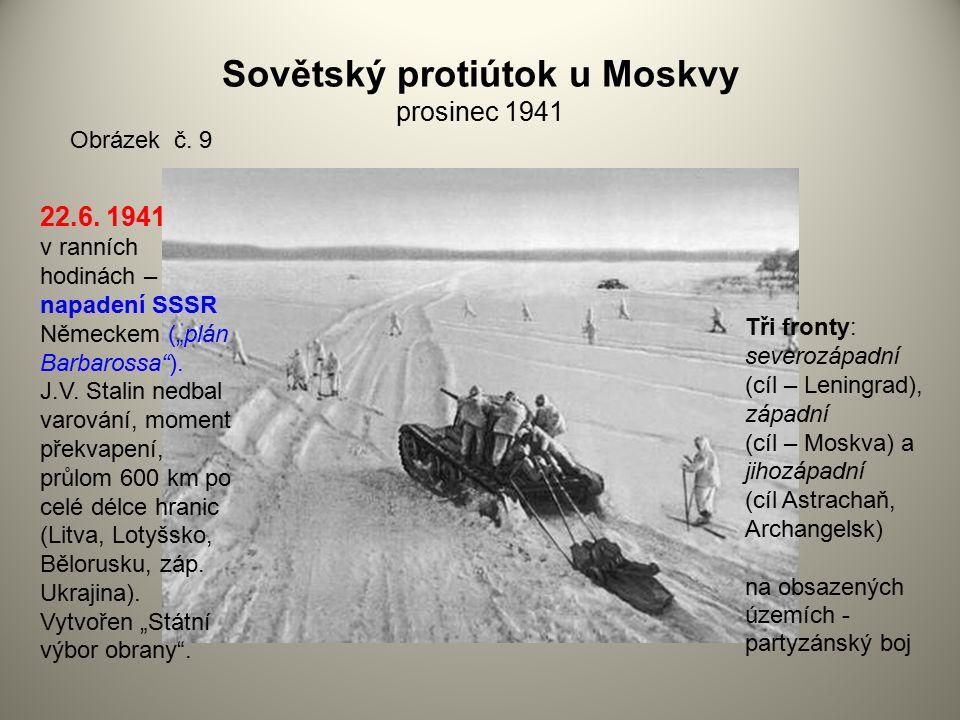 Sovětský protiútok u Moskvy prosinec 1941