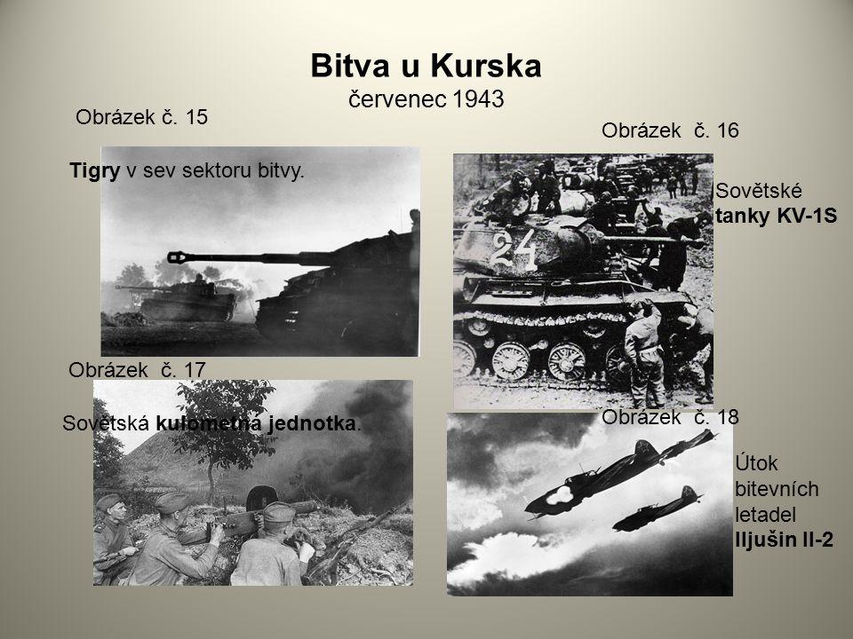 Bitva u Kurska červenec 1943