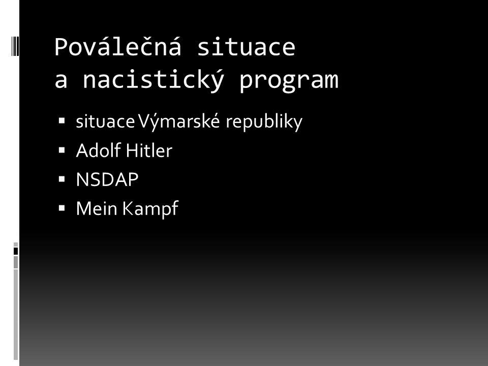 Poválečná situace a nacistický program