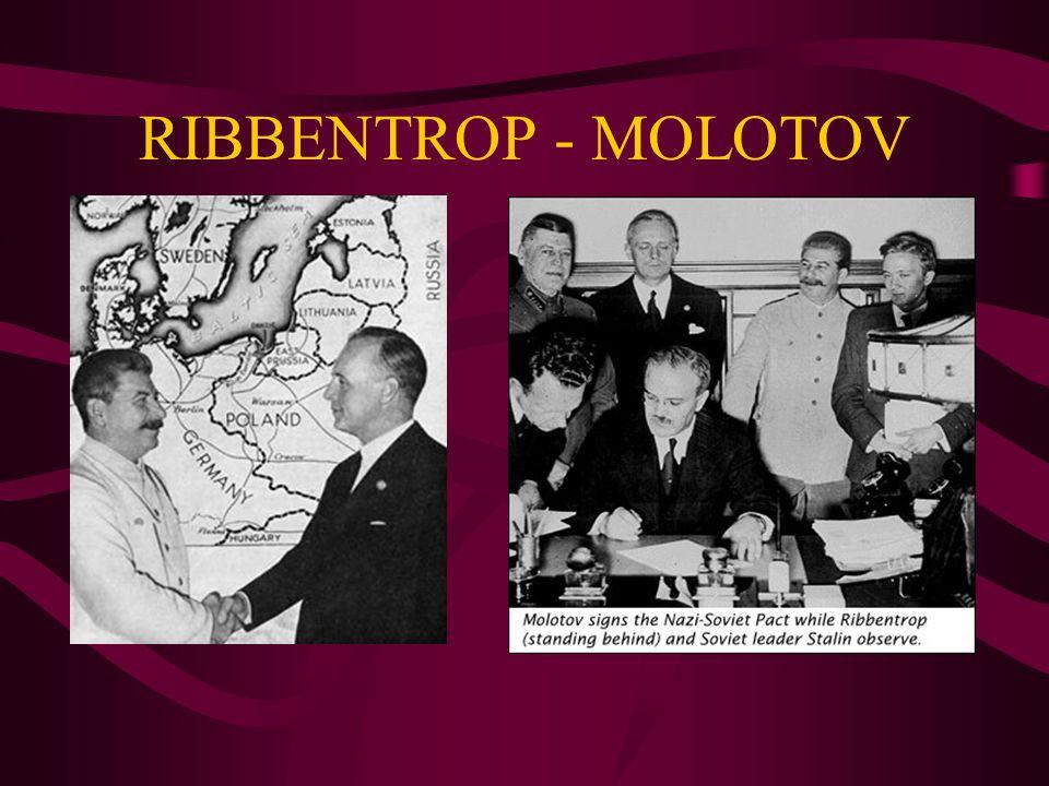 RIBBENTROP - MOLOTOV