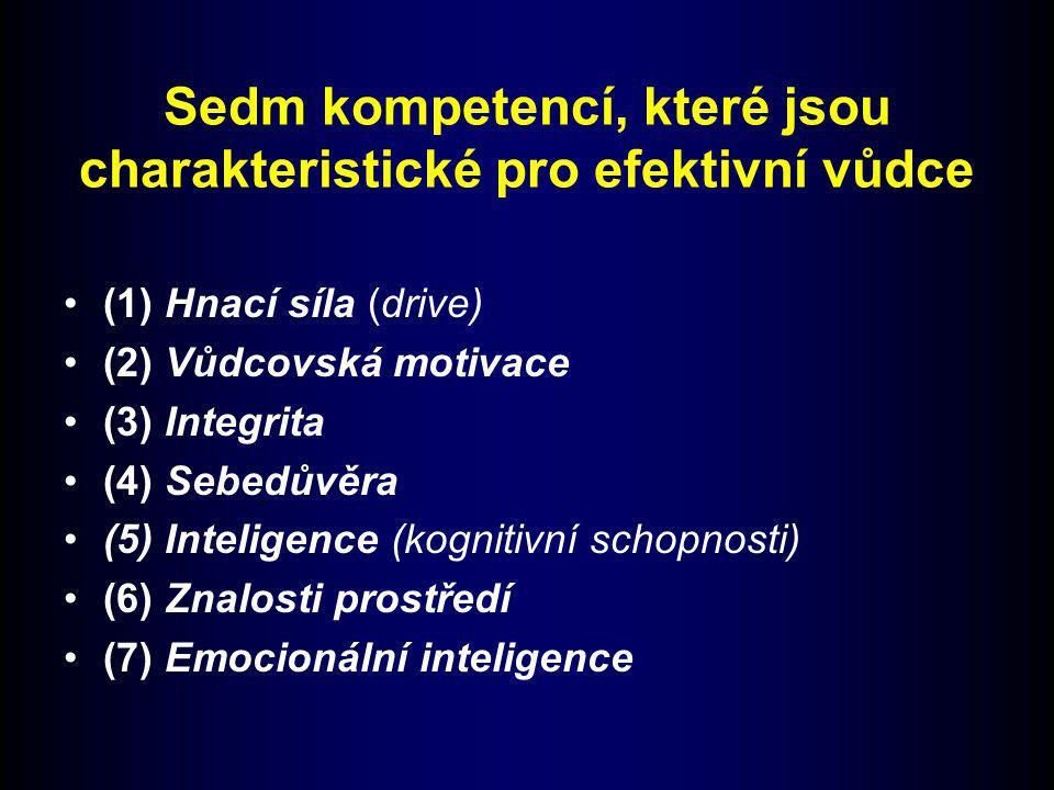 Sedm kompetencí, které jsou charakteristické pro efektivní vůdce