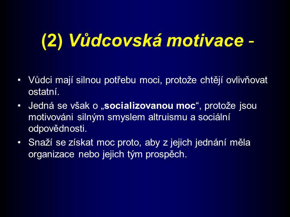 (2) Vůdcovská motivace -