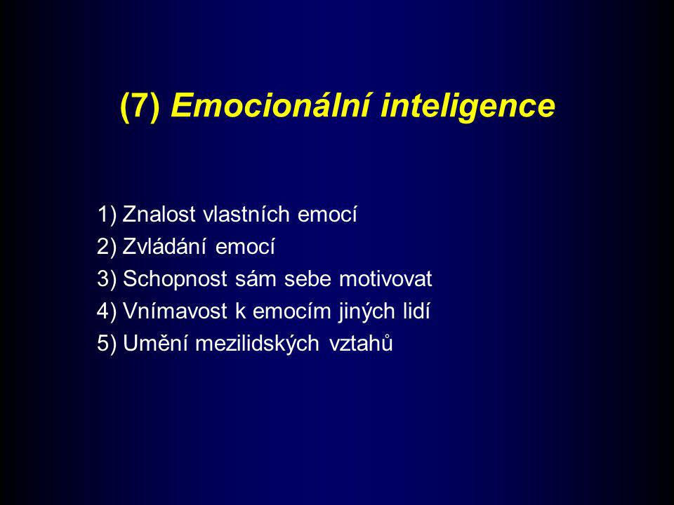 (7) Emocionální inteligence