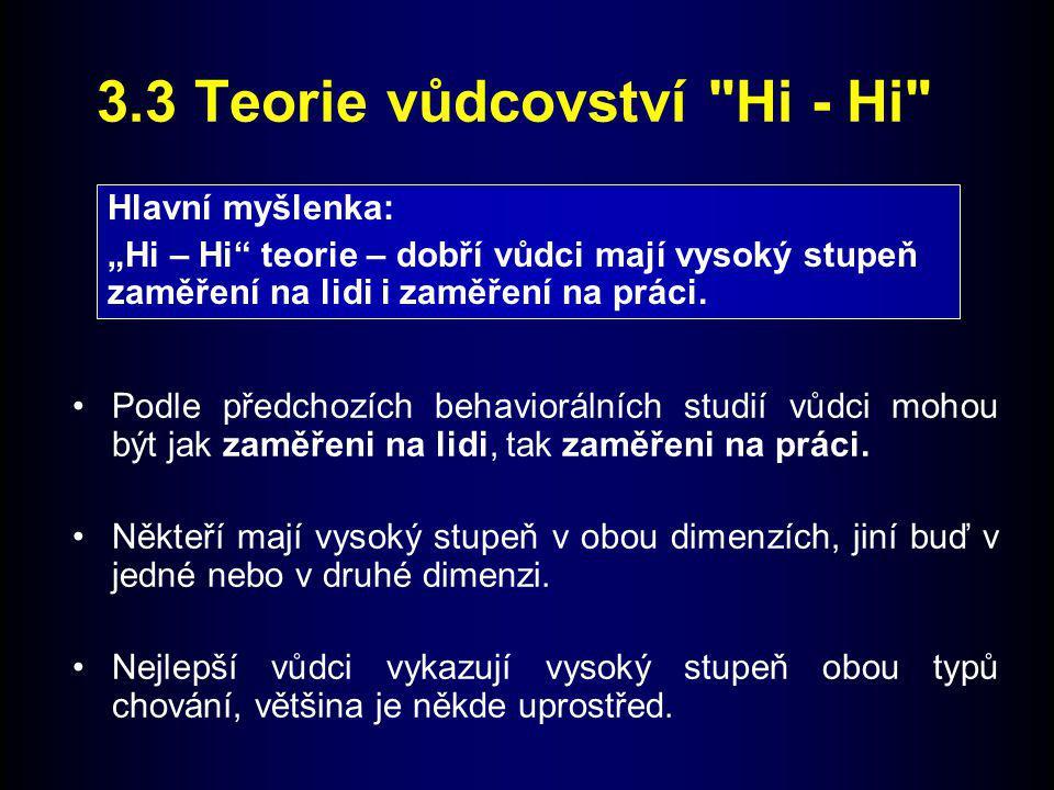 3.3 Teorie vůdcovství Hi - Hi