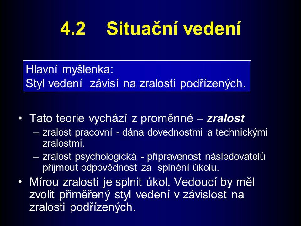 4.2 Situační vedení Hlavní myšlenka: