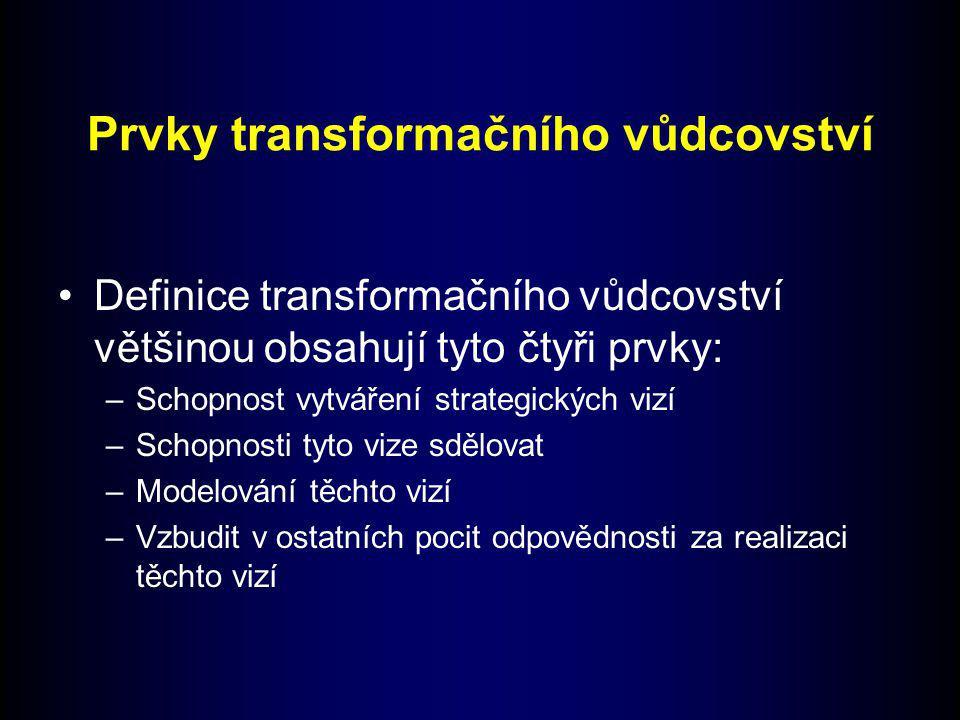 Prvky transformačního vůdcovství