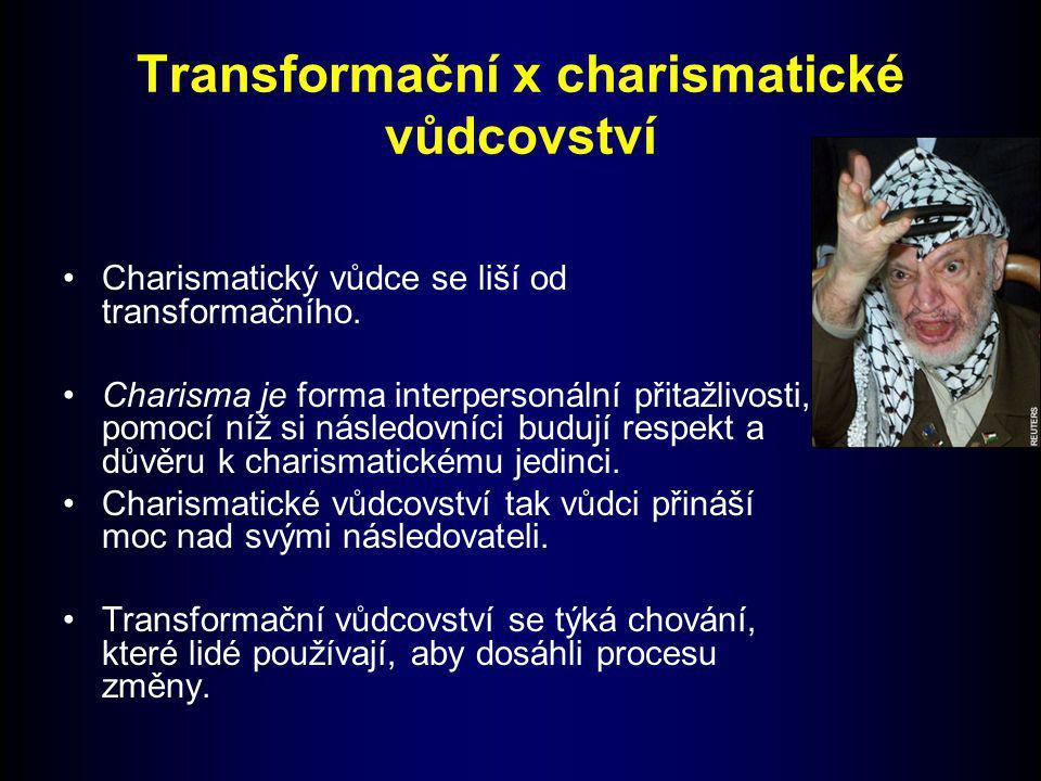 Transformační x charismatické vůdcovství