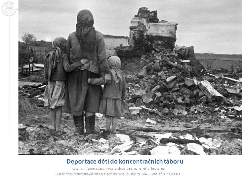 Deportace dětí do koncentračních táborů
