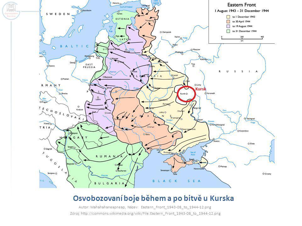 Osvobozovaní boje během a po bitvě u Kurska