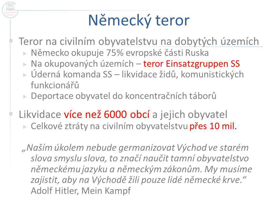 Německý teror Teror na civilním obyvatelstvu na dobytých územích