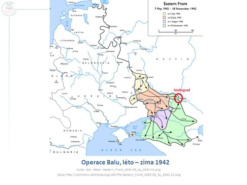 Operace Balu, léto – zima 1942