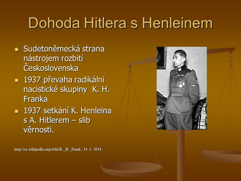 Dohoda Hitlera s Henleinem