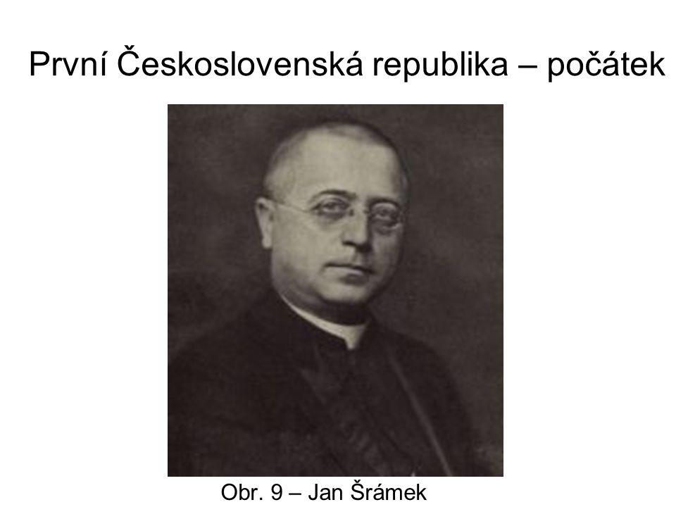 První Československá republika – počátek