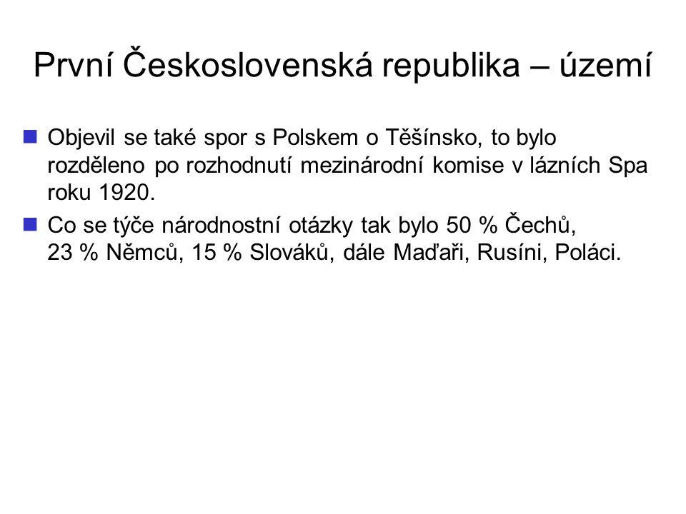 První Československá republika – území