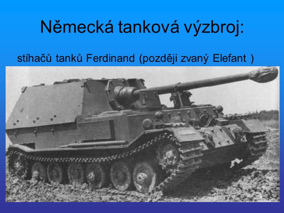 Německá tanková výzbroj: