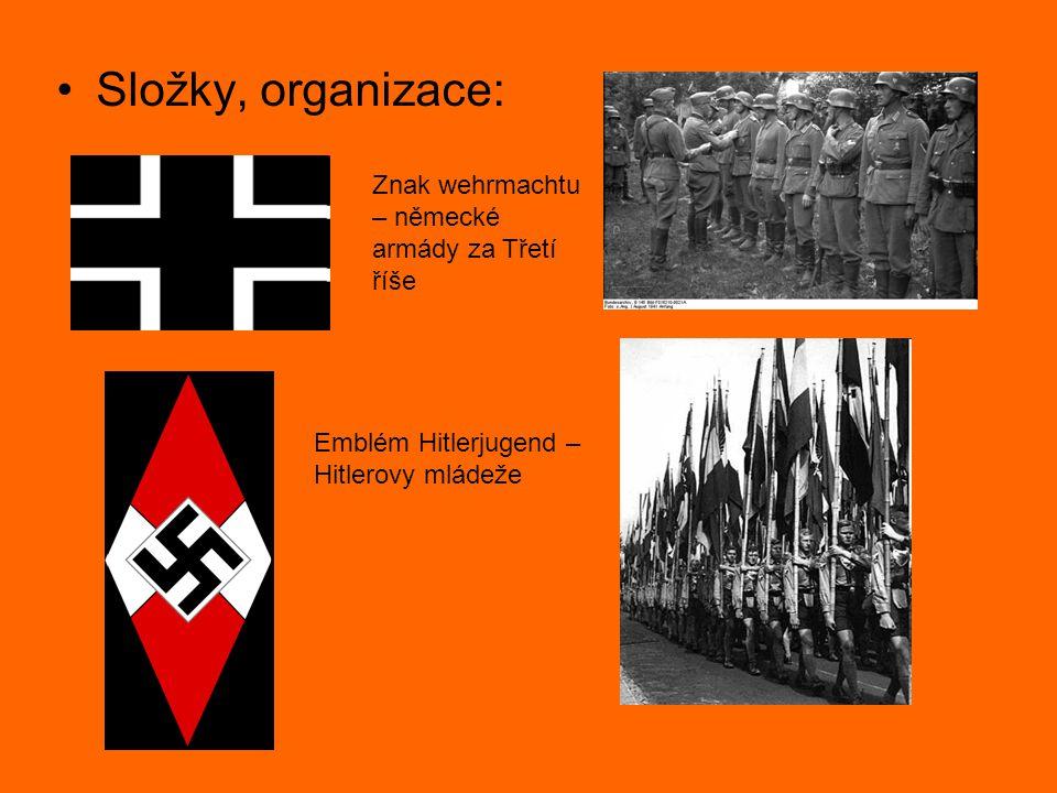 Složky, organizace: Znak wehrmachtu – německé armády za Třetí říše