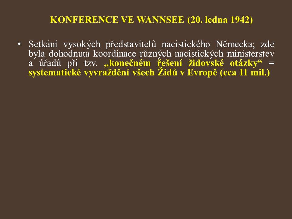 KONFERENCE VE WANNSEE (20. ledna 1942)