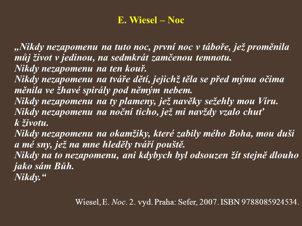 E. Wiesel – Noc