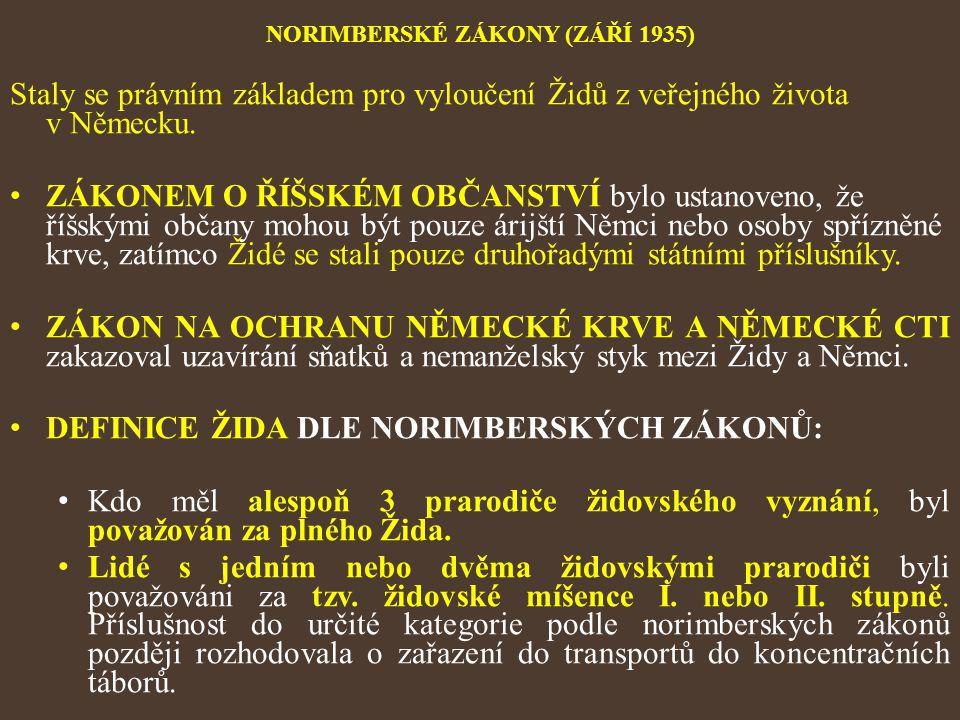 NORIMBERSKÉ ZÁKONY (ZÁŘÍ 1935)