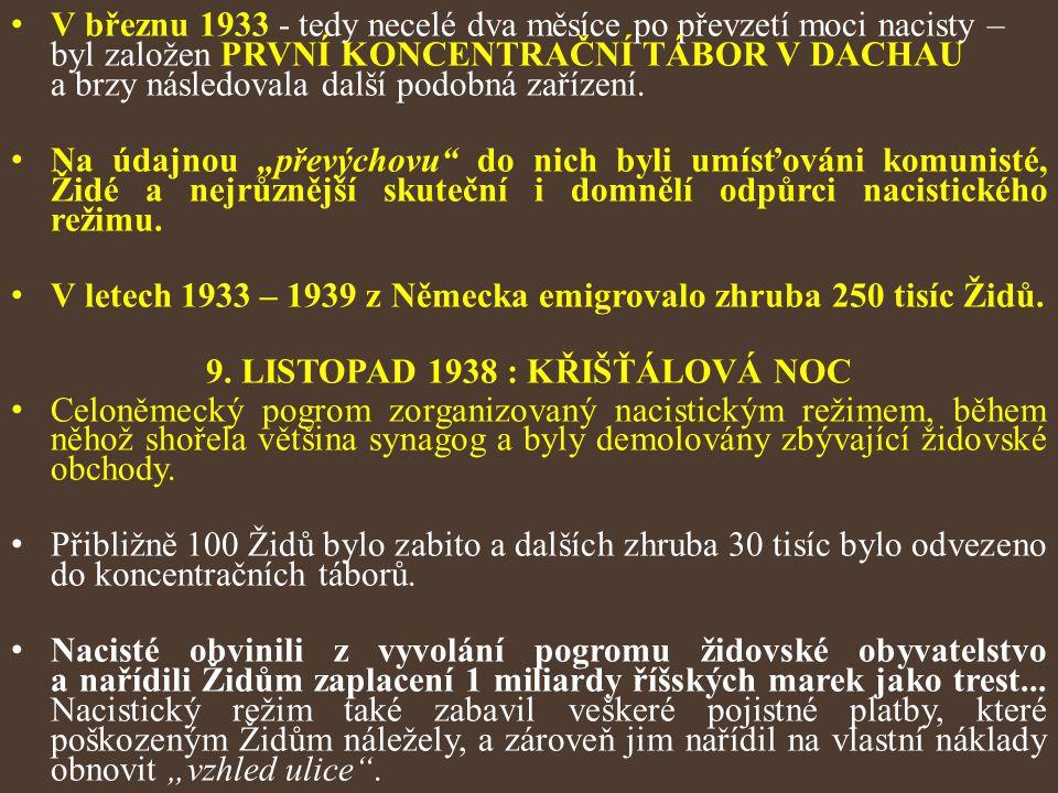 9. LISTOPAD 1938 : KŘIŠŤÁLOVÁ NOC