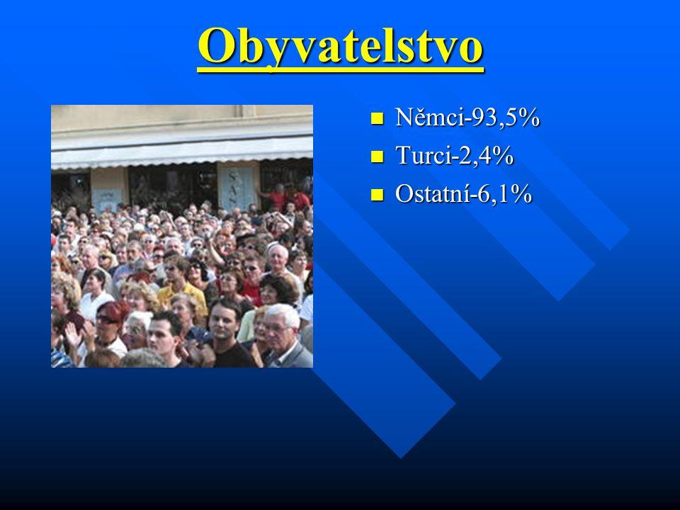 Obyvatelstvo Němci-93,5% Turci-2,4% Ostatní-6,1%