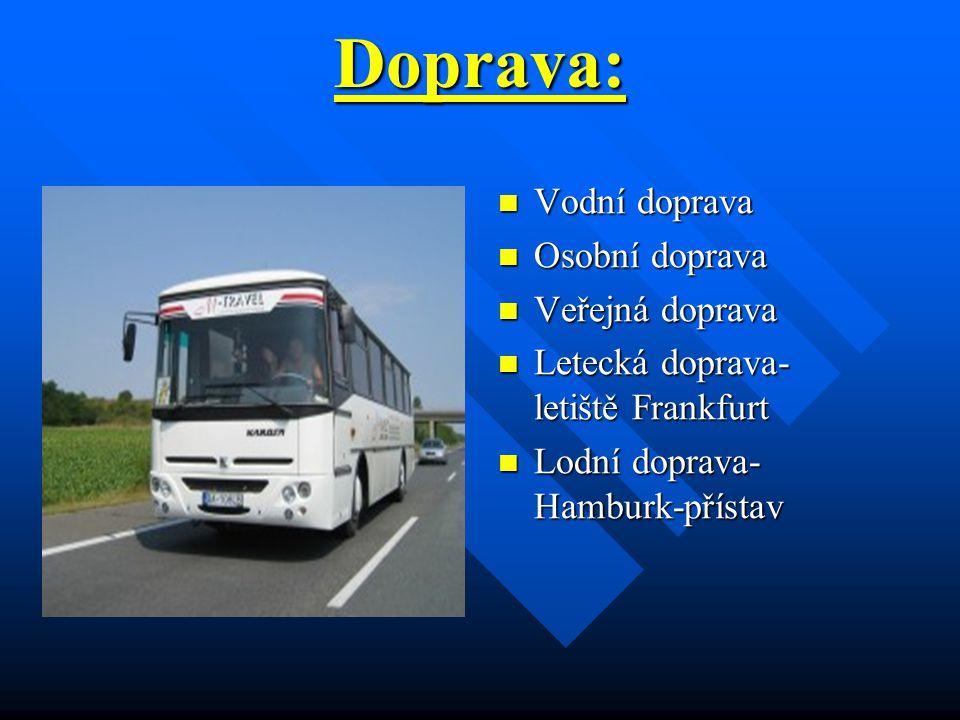 Doprava: Vodní doprava Osobní doprava Veřejná doprava