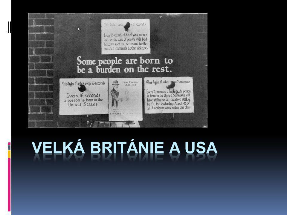 Velká Británie a usa