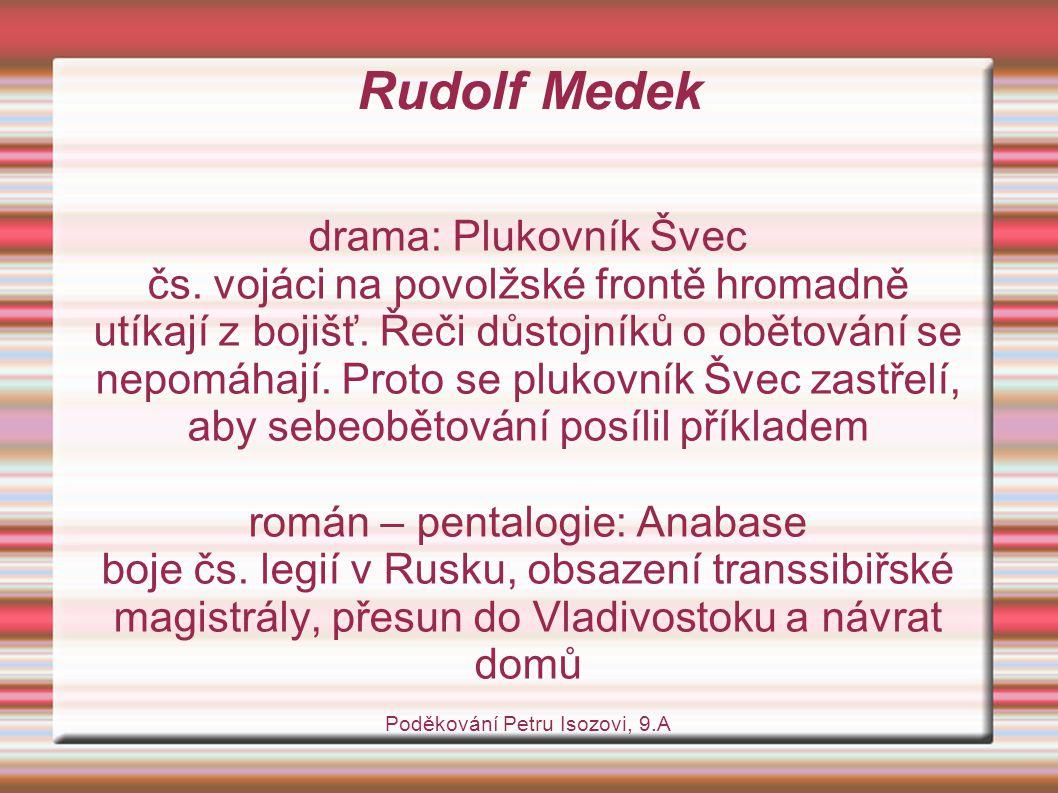 Rudolf Medek drama: Plukovník Švec