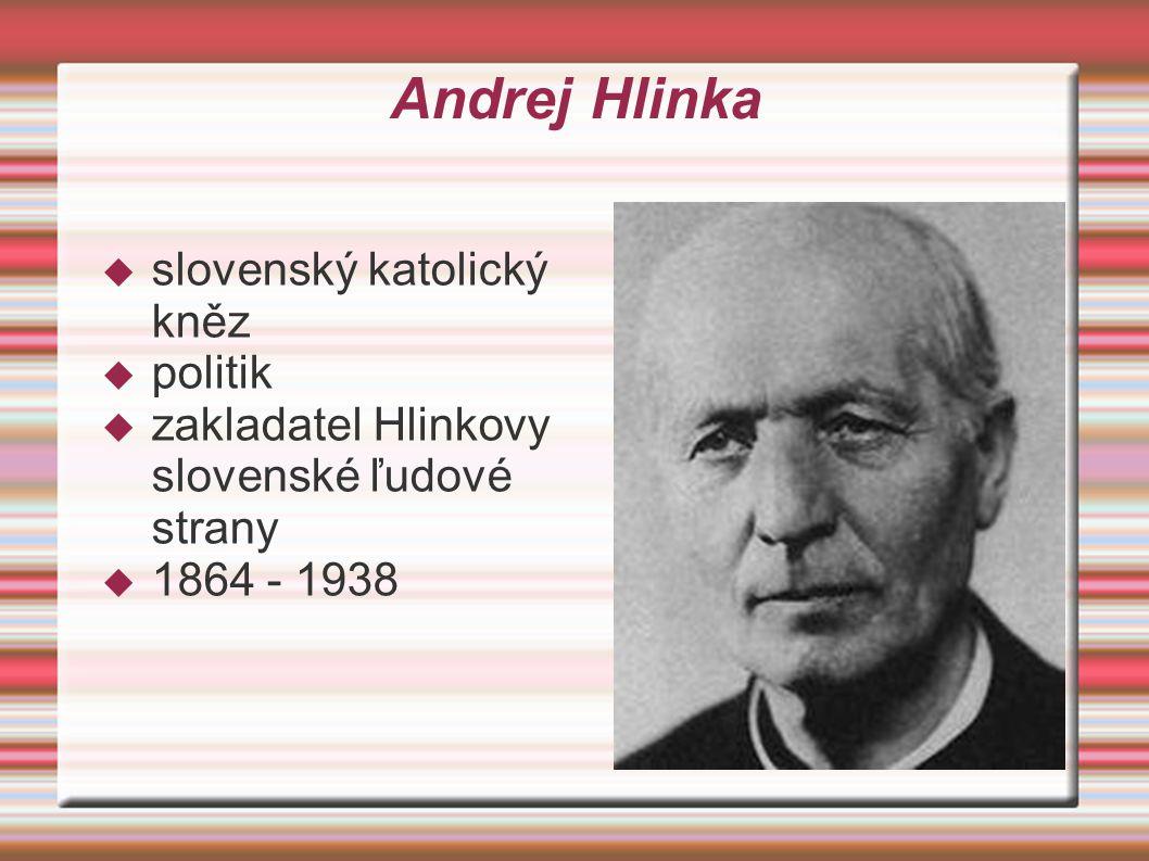 Andrej Hlinka slovenský katolický kněz politik