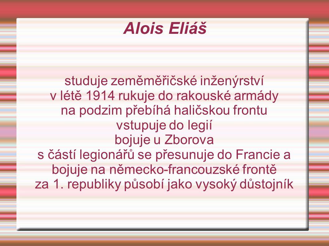 Alois Eliáš studuje zeměměřičské inženýrství