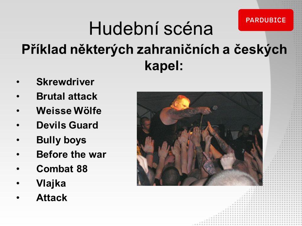 Příklad některých zahraničních a českých kapel:
