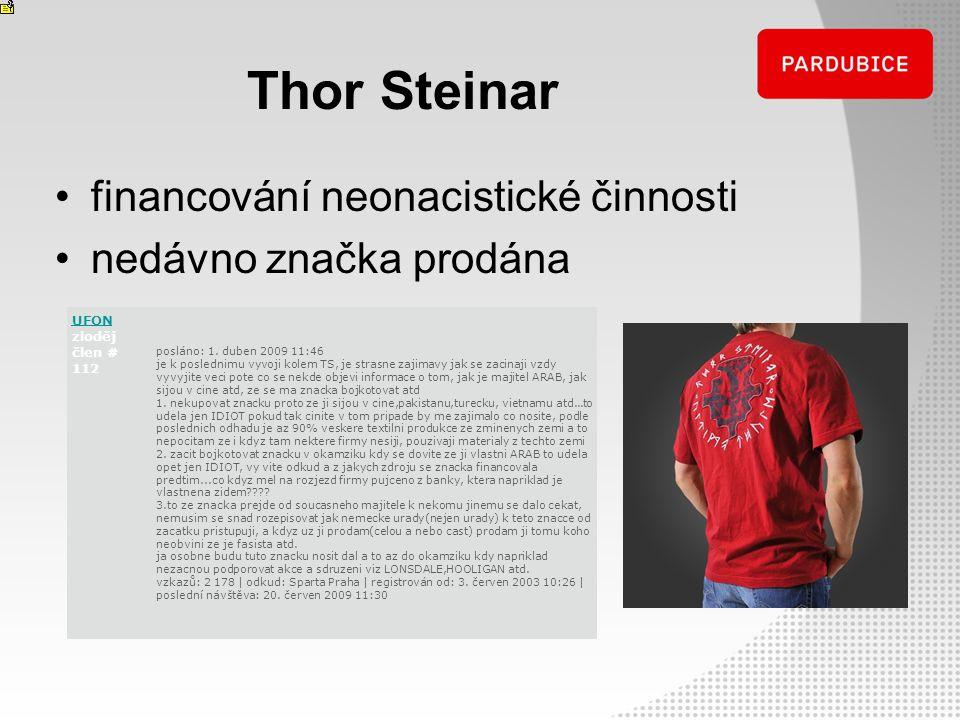 Thor Steinar financování neonacistické činnosti nedávno značka prodána