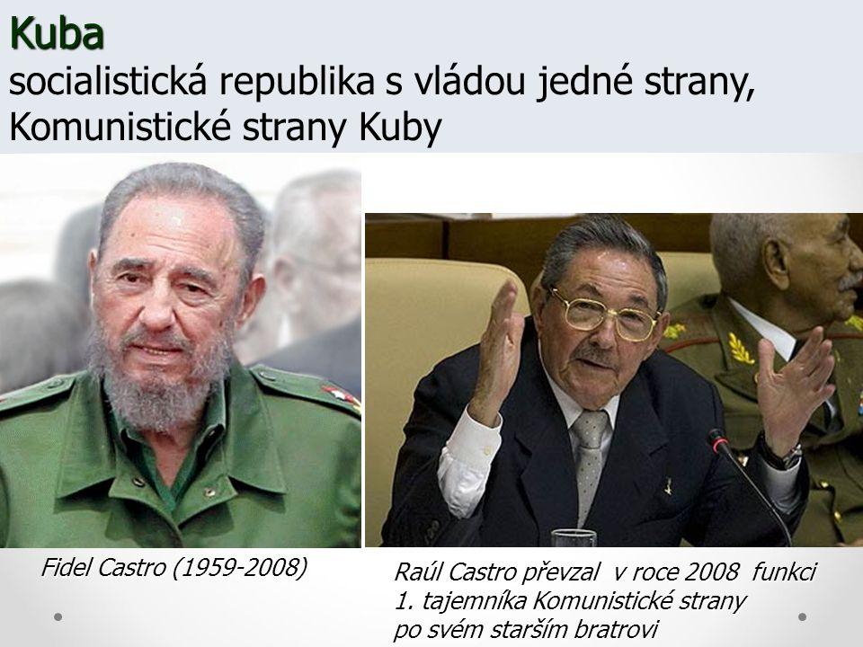 Kuba socialistická republika s vládou jedné strany, Komunistické strany Kuby