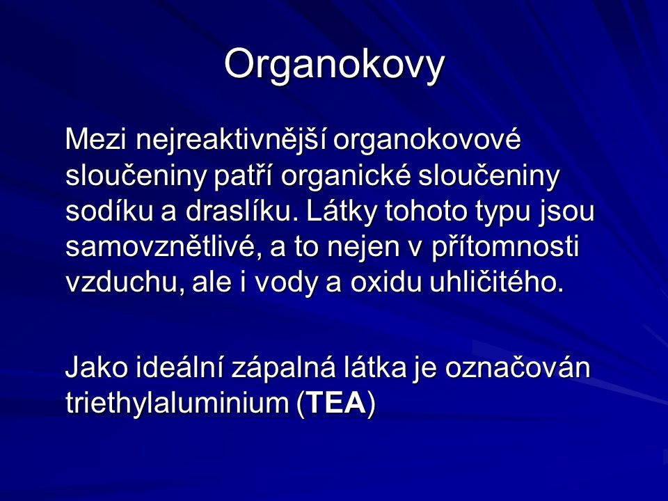 Organokovy