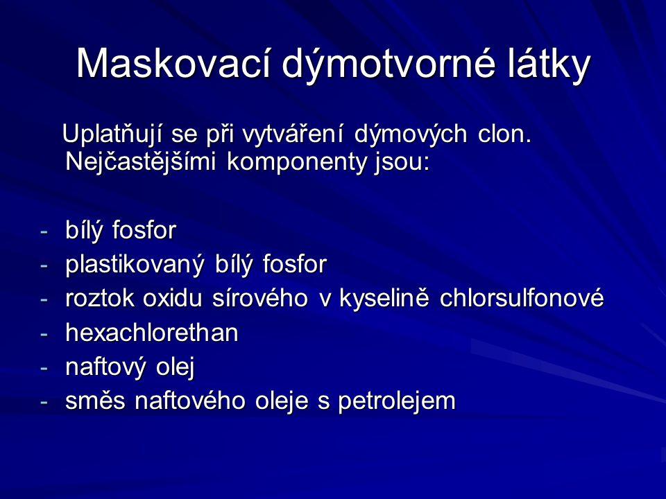 Maskovací dýmotvorné látky