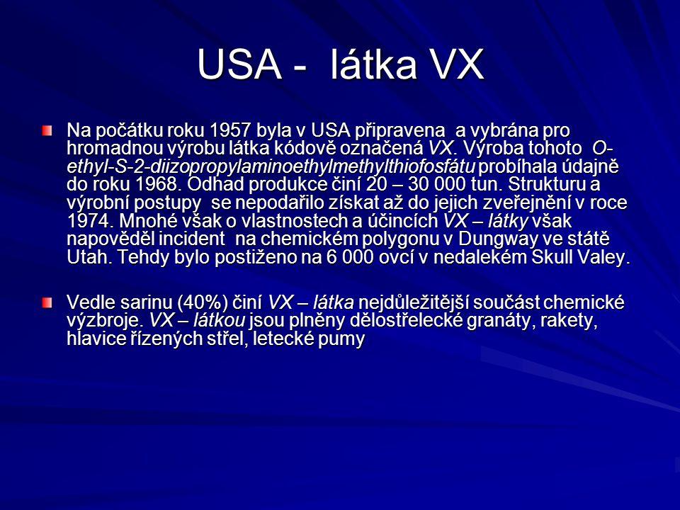 USA - látka VX