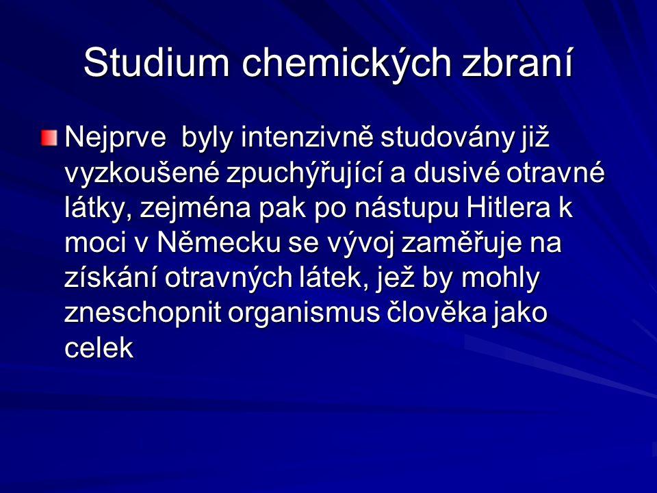 Studium chemických zbraní