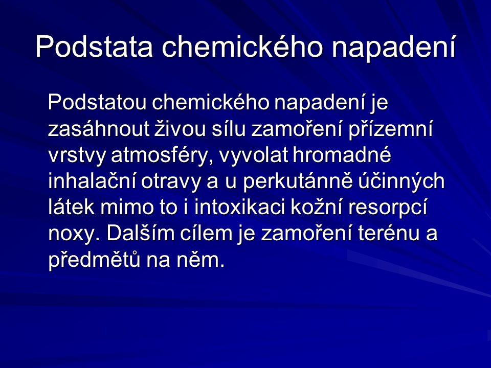 Podstata chemického napadení