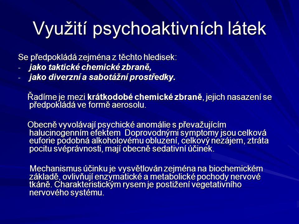 Využití psychoaktivních látek