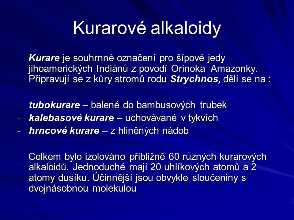 Kurarové alkaloidy