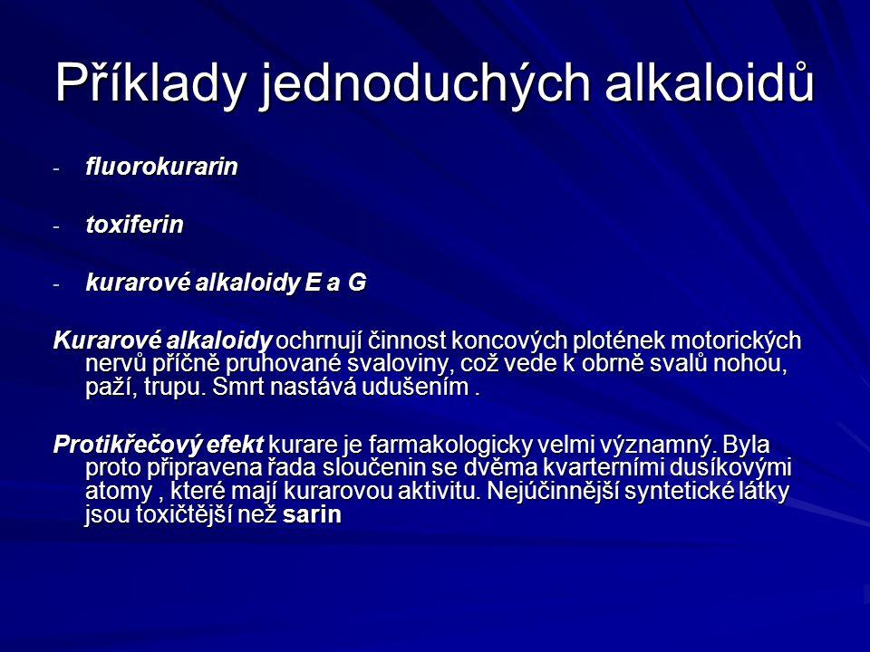 Příklady jednoduchých alkaloidů