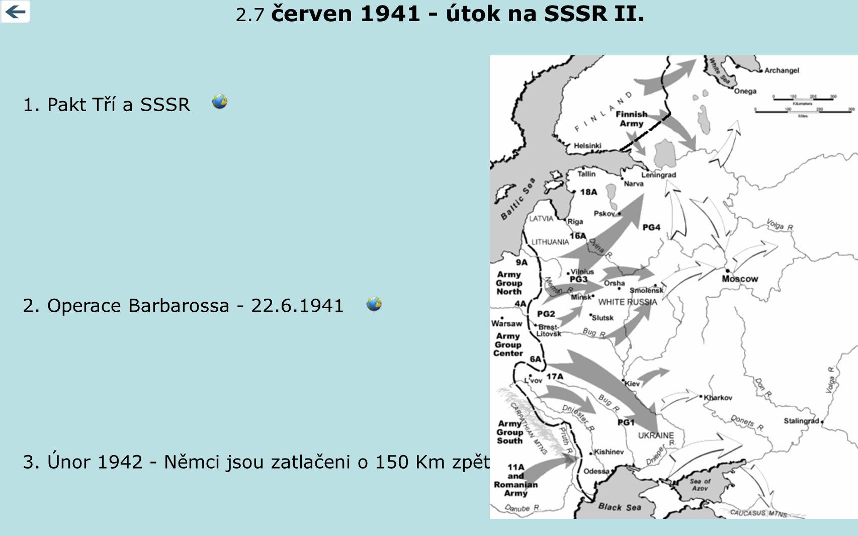 2.7 červen 1941 - útok na SSSR II. 1. Pakt Tří a SSSR.