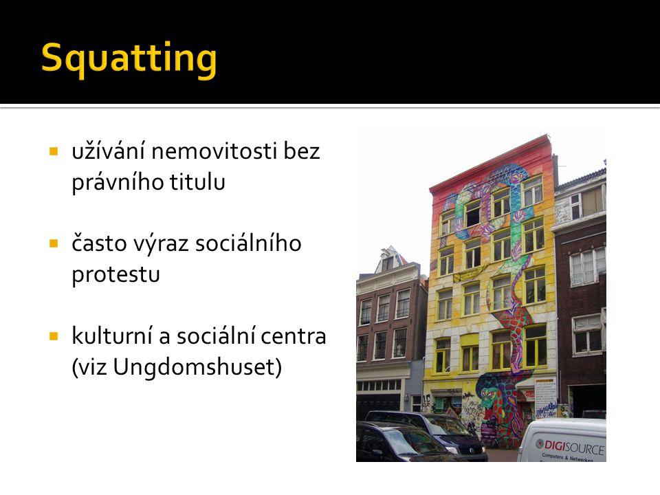 Squatting užívání nemovitosti bez právního titulu