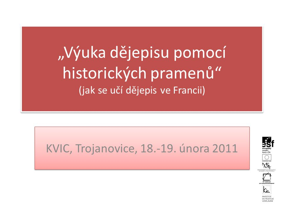 KVIC, Trojanovice, 18.-19. února 2011